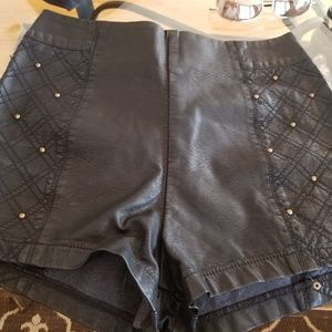 Silence and Noise leather beaded shorts 4
